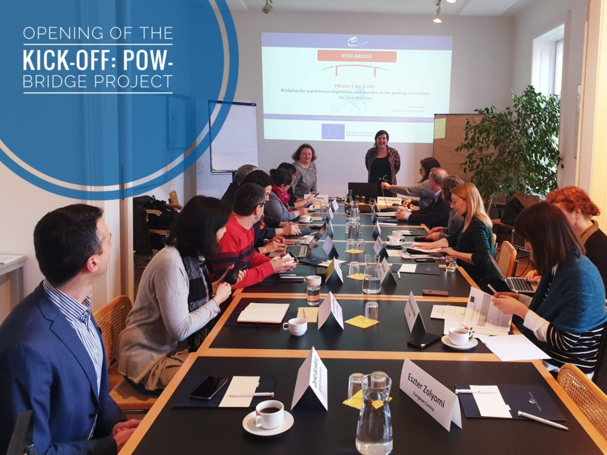 Project meeting: POW-Bridge Kick-Off and Methodology Seminar in Vienna
