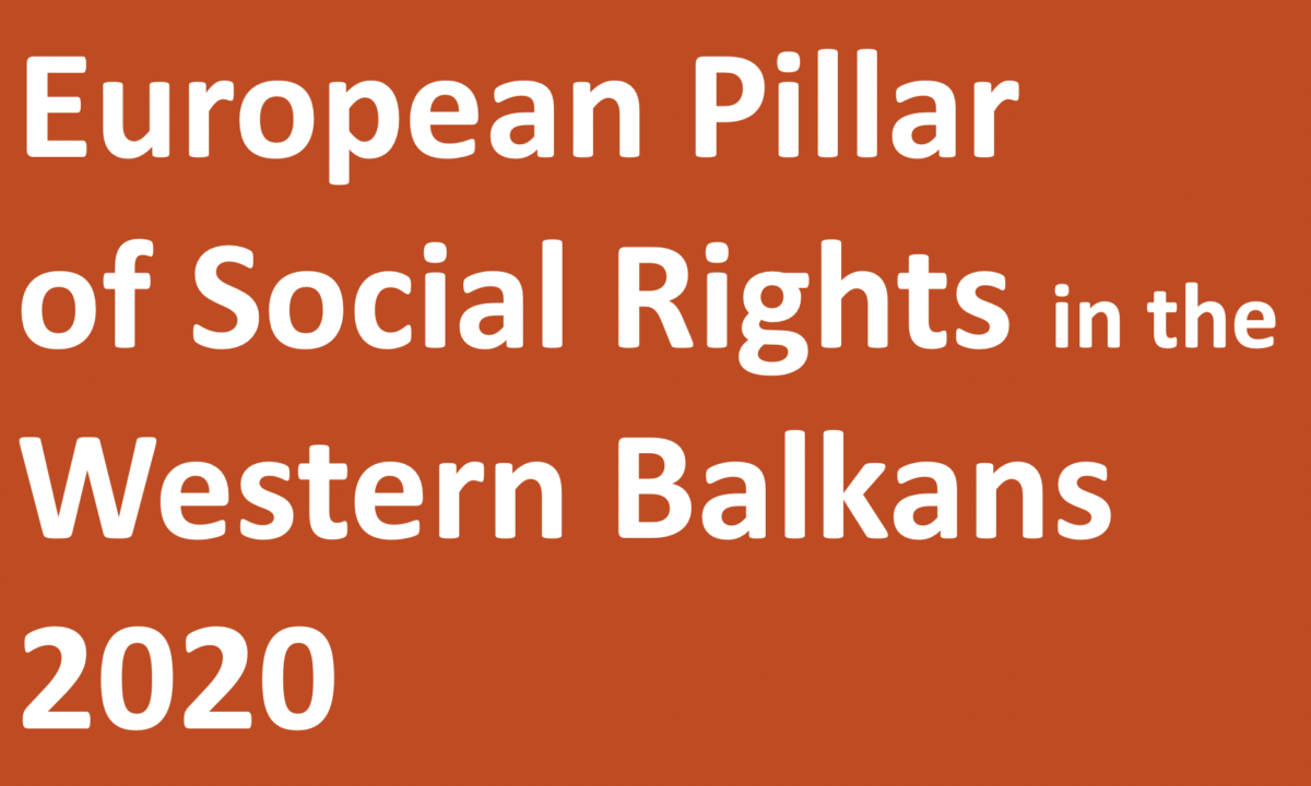 2020 Updated Reviews: on the European Pillar of Social Rights in the Western Balkans