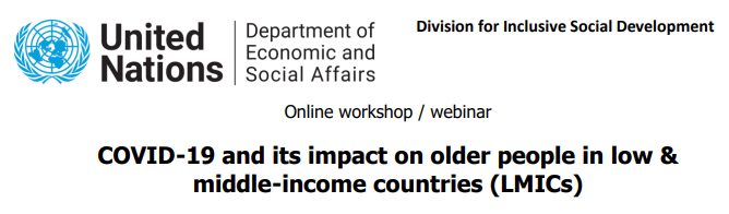 29/06/21 Webinar: COVID-19 & its impact on older persons in low-and-middle-income countries
