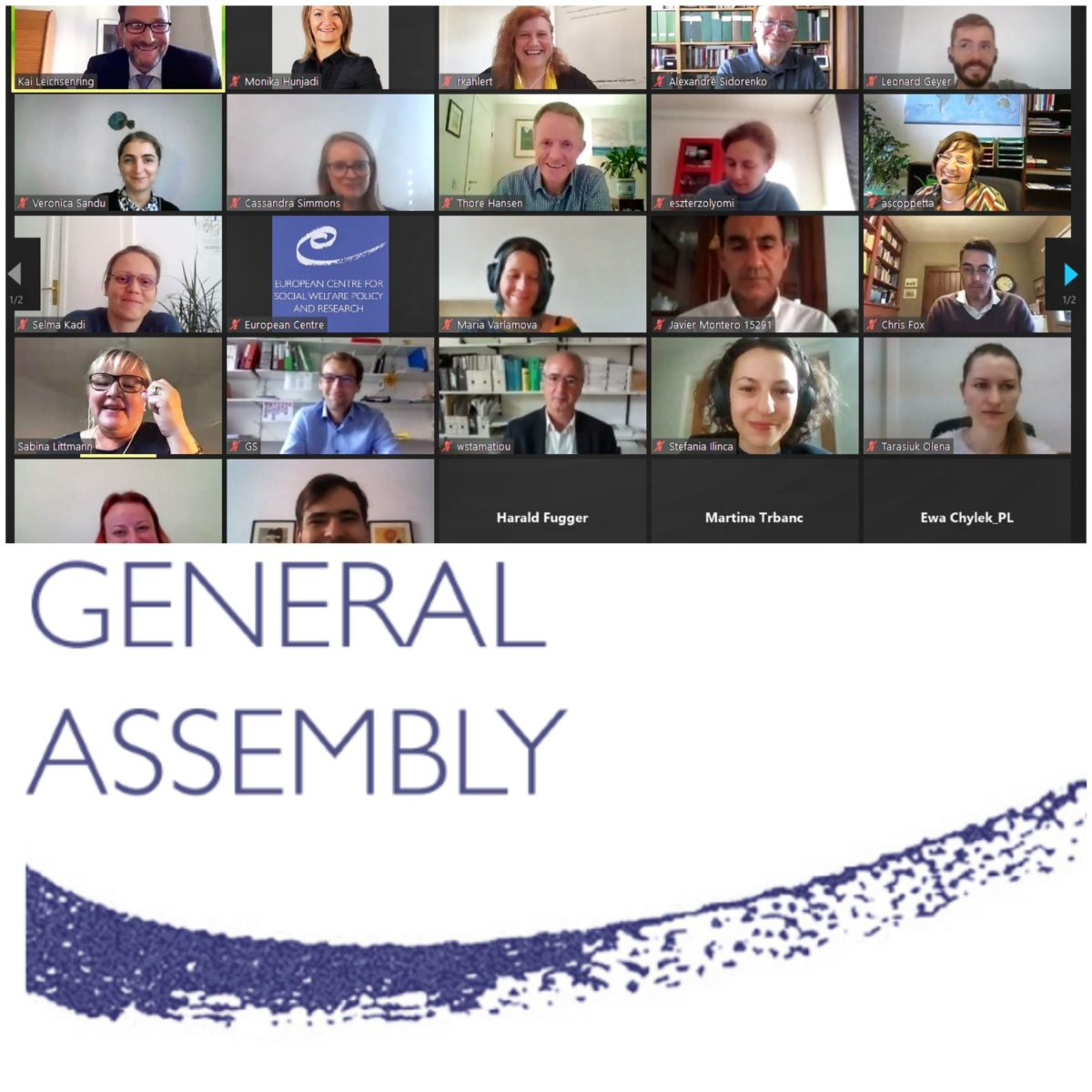 19 – 20/10/2021 47th General Assembly Meeting 2021 of the European Centre